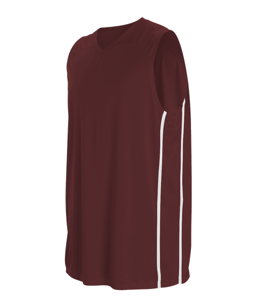 Alleson 535JY Youth Basketball Jersey - Maroon White