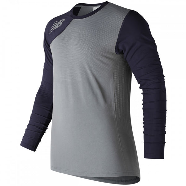 New Balance Seamless X4J Asymmetrical Shirt Right - Navy - Baseball Apparel - Hit A Double - 1