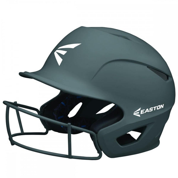 Easton Prowess Matte Helmet with Fastpitch Facemask - Charcoal - Baseball Helmets - Hit A Double