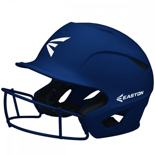 Easton Prowess Matte Helmet with Fastpitch Facemask - Navy - Baseball Helmets - Hit A Double