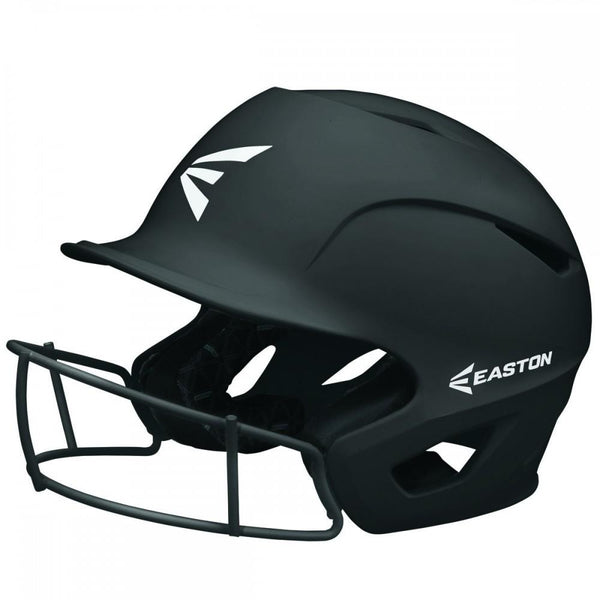 Easton Prowess Matte Helmet with Fastpitch Facemask - Black - Baseball Helmets - Hit A Double