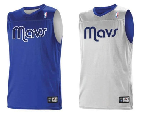 Alleson A105LA Adult NBA Logo Reversible Game Jersey - Dallas Mavericks