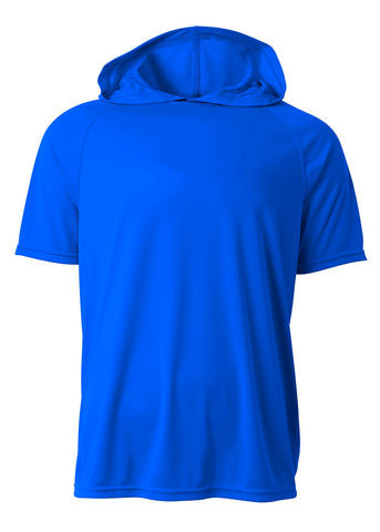 A4 N3408 Short Sleeve Hooded Tee - Royal - HIT A Double