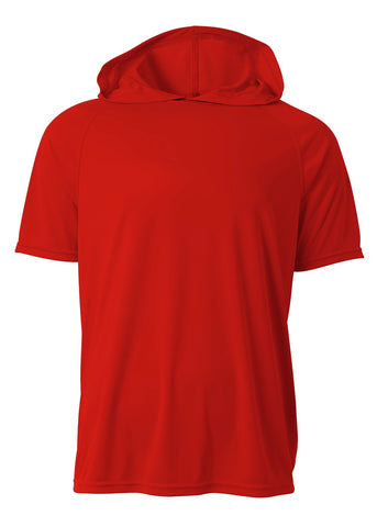 A4 N3408 Short Sleeve Hooded Tee - Scarlet - HIT A Double