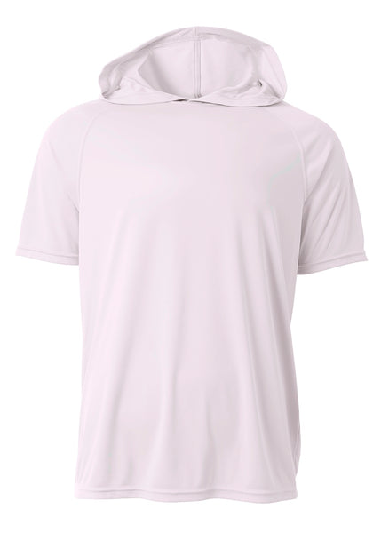 A4 N3408 Short Sleeve Hooded Tee - White - HIT A Double