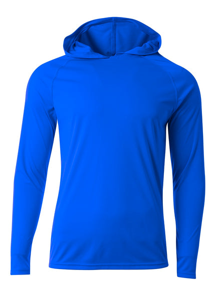 A4 N3409 Long Sleeve Hooded Tee - Royal - HIT A Double