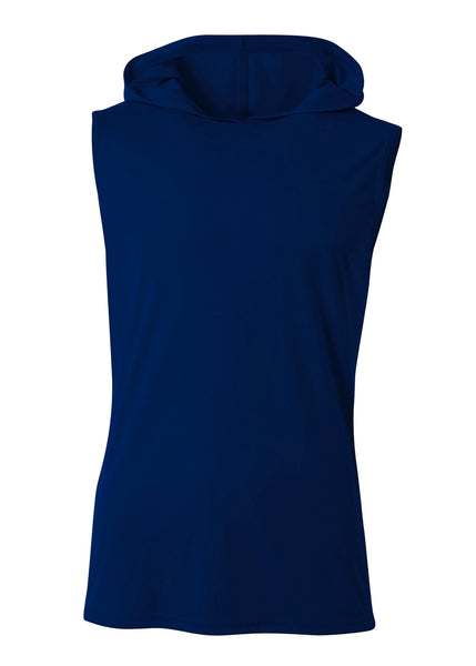 A4 N3410 Sleeveless Hooded Tee - Navy - HIT A Double