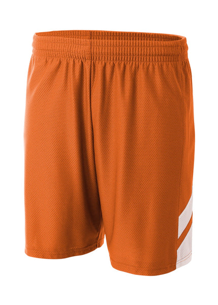 A4 N5178 Fast Break Short - Orange White - HIT A Double