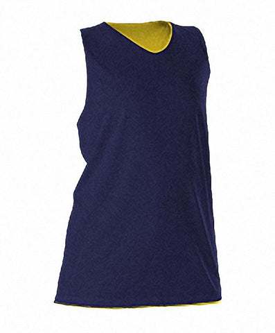 Alleson 506CRW Women's Reversible Racerback Tank - Navy Light Gold