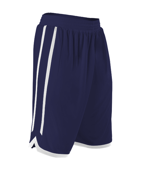 Alleson 588PY Youth Reversible Basketball Short - Navy White