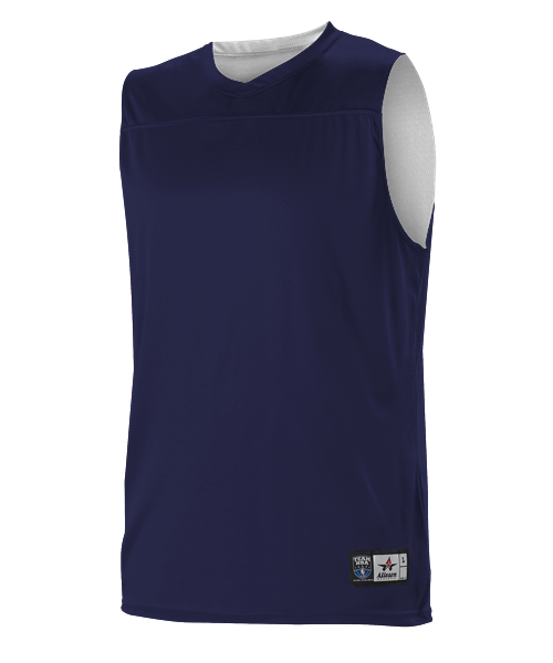 Alleson A105BA Adult NBA Blank Reversible Game Jersey - Navy White