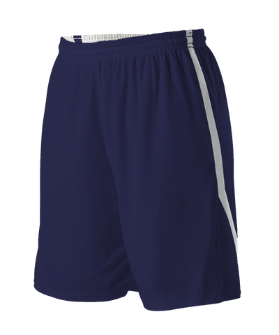 Alleson 531PRWY Girl's Reversible Basketball Short - Navy White - HIT A Double
