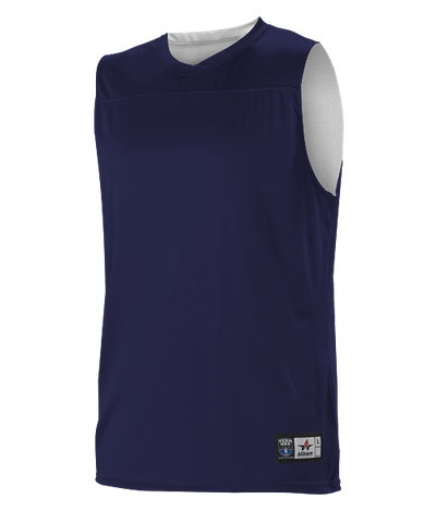 Alleson A105BY Youth NBA Blank Reversible Game Jersey - Navy White