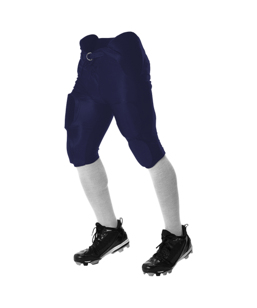 Alleson 688DY Youth Solo Series Integrated Football Pant - Navy - Football - Hit A Double