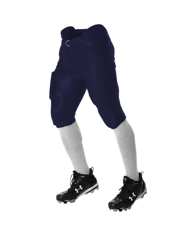 Alleson 681Y Youth Integrated Football Pant - Navy - Football - Hit A Double