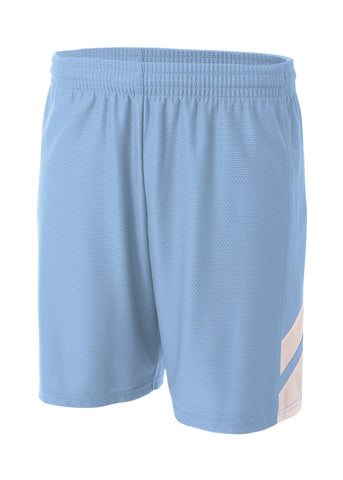 A4 NB5178 Fast Break Youth Short - Light Blue White - HIT A Double