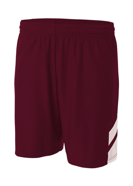A4 NB5178 Fast Break Youth Short - Maroon White - HIT A Double