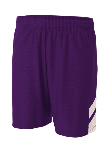 A4 NB5178 Fast Break Youth Short - Purple White - HIT A Double