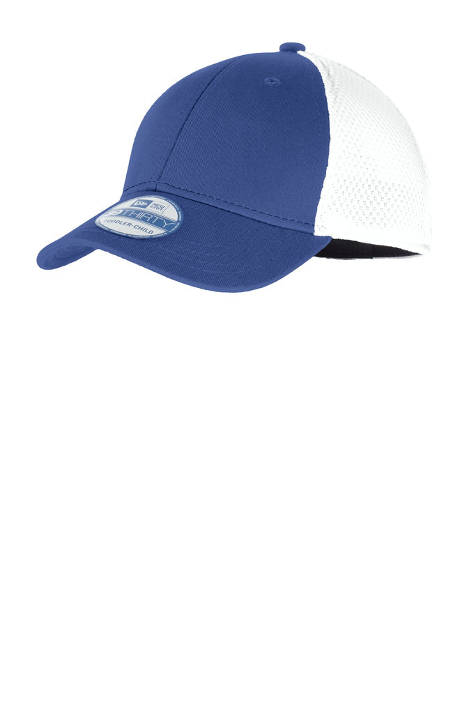 New Era NE302 Youth Stretch Mesh Cap - Royal White - HIT A Double