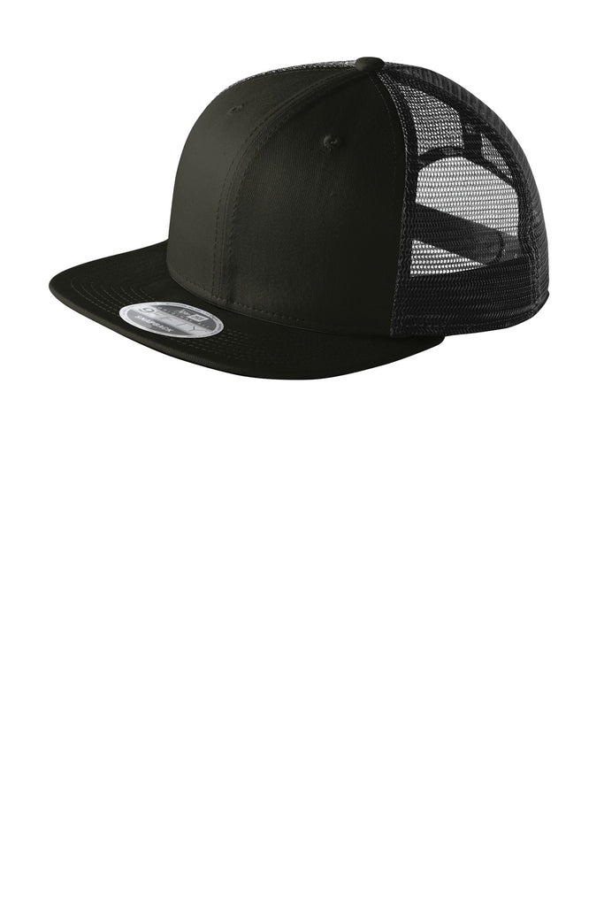 New Era NE403 Original Fit Snapback Trucker Cap - Black Black - HIT A Double