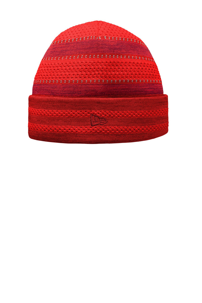 New Era NE906 On-Field Knit Beanie with Cuff - Scarlet