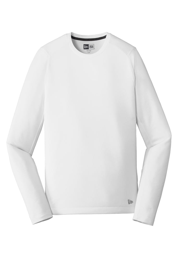 New Era NEA201 Series Performance Long Sleeve Crew Tee - White Solid - HIT A Double