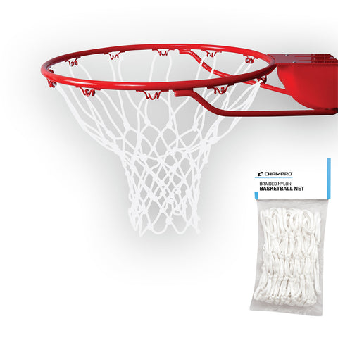 Champro NG03 Basketball Net Braided Nylon - White