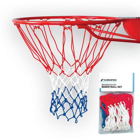 Champro NG04 Basketball Net Braided Nylon - Red White Ble