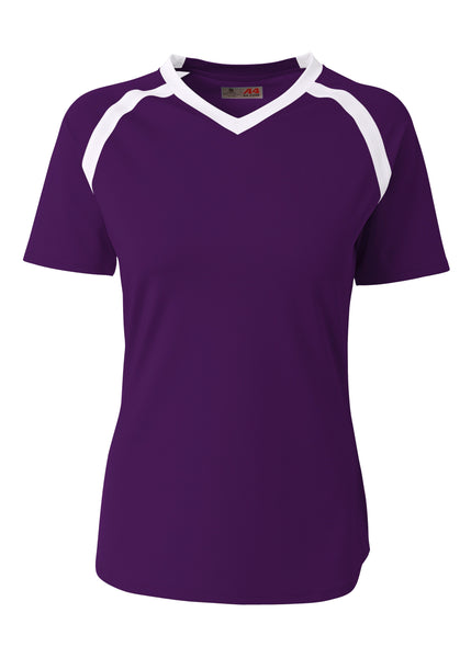 A4 NG3019 The Ace - Short Sleeve Volleyball Jersey - Purple White - HIT A Double