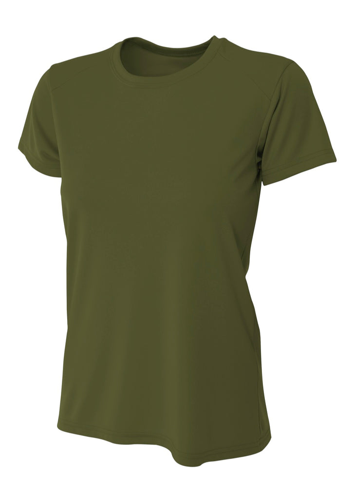 A4 NW3201 Woman's Cooling Performance Crew - Military Green