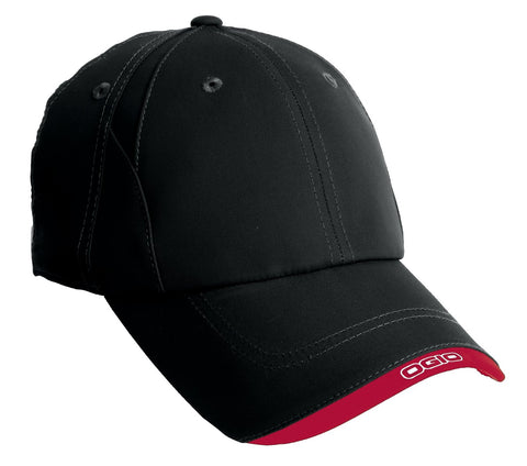 OGIO OG600 X-Over Cap - Blacktop Chili Red - HIT A Double