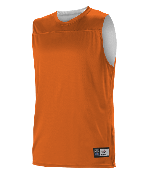 Alleson A105BA Adult NBA Blank Reversible Game Jersey - Orange White