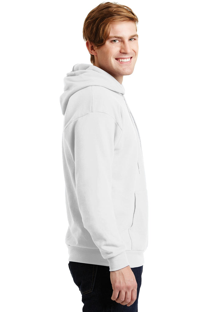 Hanes P170 Ecosmart Pullover Hooded Sweatshirt - White - HIT A Double