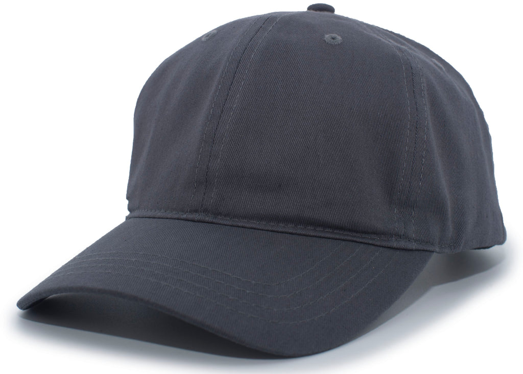 Pacific Headwear PE8 Unstructured Buckle Back Cap - Graphite - HIT A Double