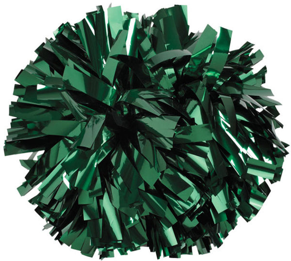 Pizzazz 1 Color Metallic Cheerleaders Poms - Forest