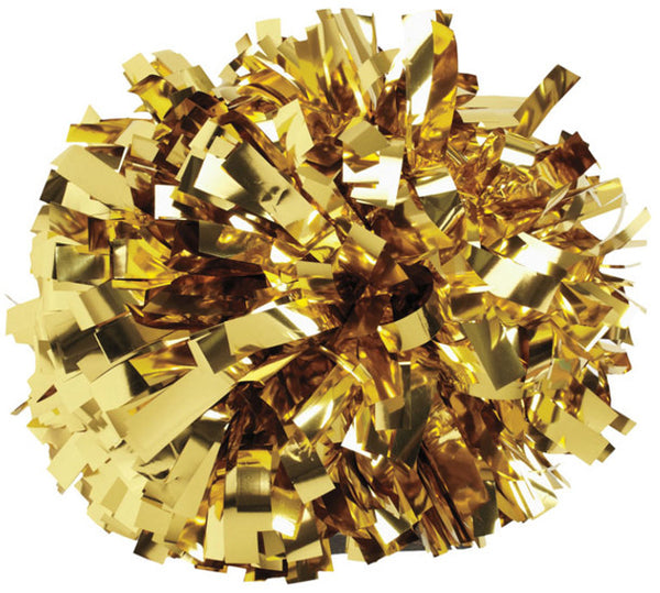 Pizzazz 1 Color Metallic Cheerleaders Poms - Gold