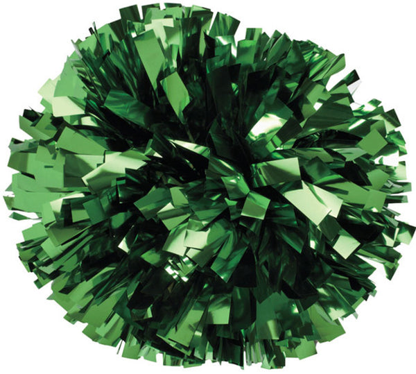 Pizzazz 1 Color Metallic Cheerleaders Poms - Kelly