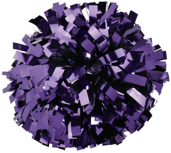 Pizzazz 1 Color Metallic Cheerleaders Poms - Purple