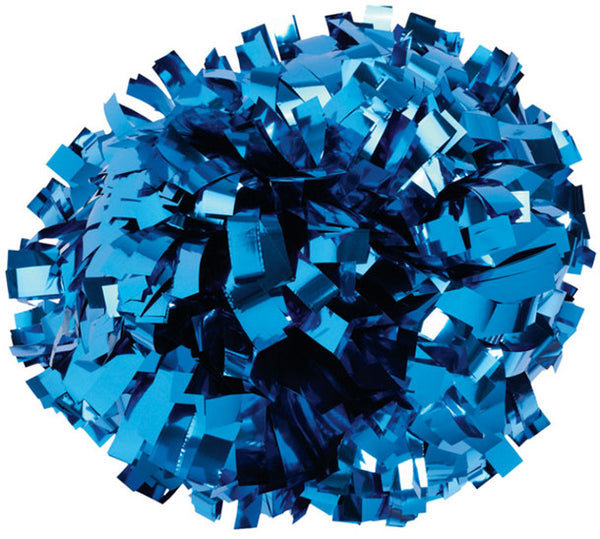Pizzazz 1 Color Metallic Cheerleaders Poms - Royal