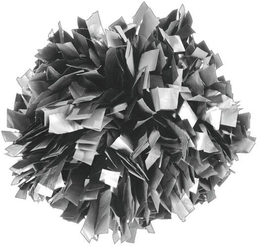 Pizzazz 1 Color Plastic Cheerleaders Poms - Gray