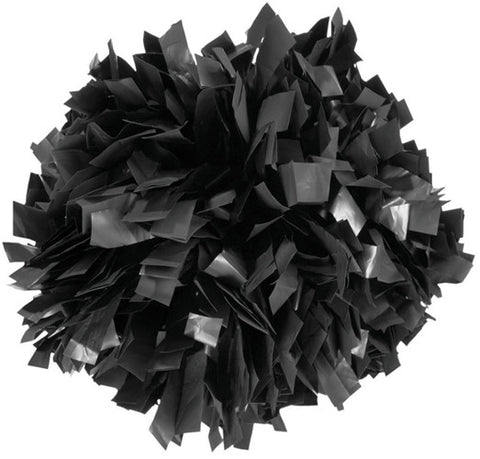 Pizzazz 1 Color Plastic Cheerleaders Poms - Black