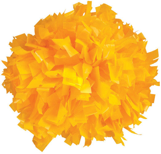 Pizzazz 1 Color Plastic Cheerleaders Poms - Gold