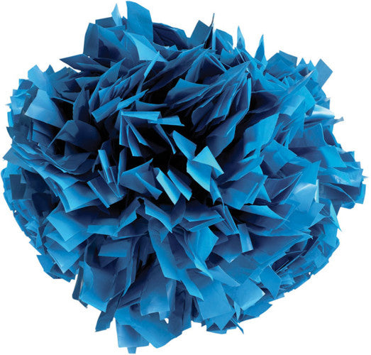 Pizzazz 1 Color Plastic Cheerleaders Poms - Columbia Blue