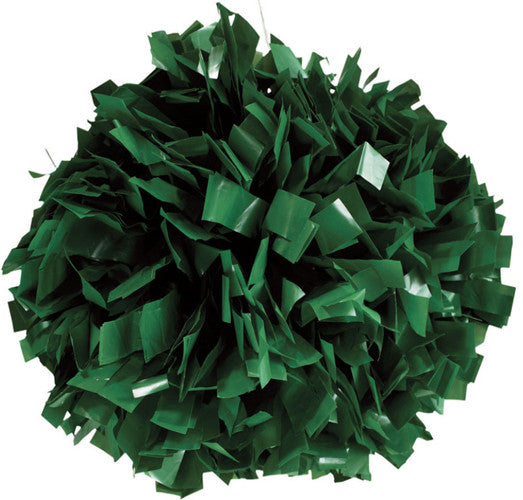 Pizzazz 1 Color Plastic Cheerleaders Poms - Forest
