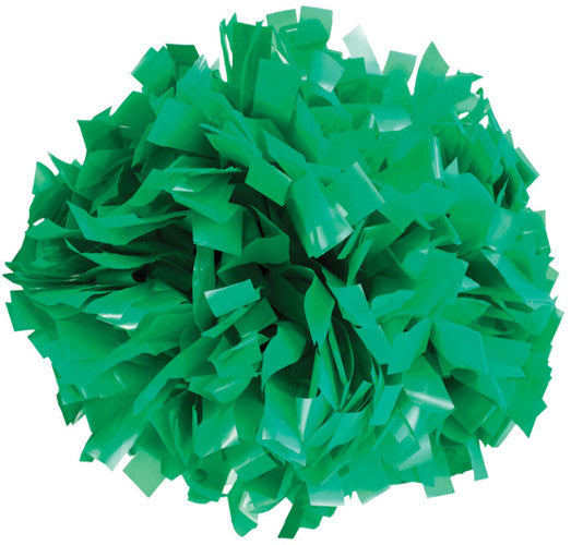 Pizzazz 1 Color Plastic Cheerleaders Poms - Kelly