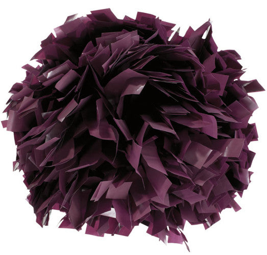 Pizzazz 1 Color Plastic Cheerleaders Poms - Maroon
