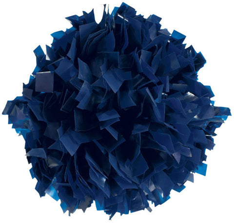 Pizzazz 1 Color Plastic Cheerleaders Poms - Navy