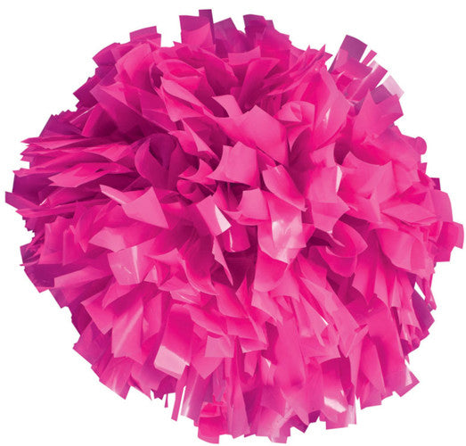 Pizzazz 1 Color Plastic Cheerleaders Poms - Neon Pink