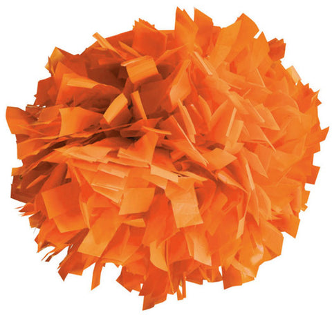 Pizzazz 1 Color Plastic Cheerleaders Poms - Orange