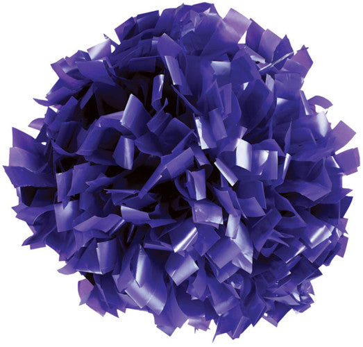 Pizzazz 1 Color Plastic Cheerleaders Poms - Purple